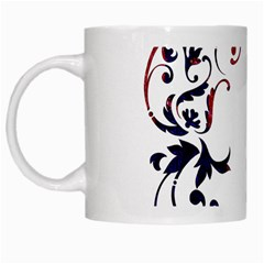 Scroll Border Swirls Abstract White Mugs