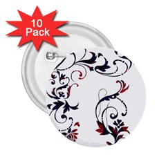 Scroll Border Swirls Abstract 2.25  Buttons (10 pack)