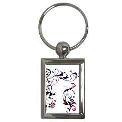 Scroll Border Swirls Abstract Key Chains (rectangle)