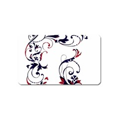 Scroll Border Swirls Abstract Magnet (name Card)
