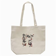 Scroll Border Swirls Abstract Tote Bag (cream)