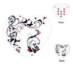 Scroll Border Swirls Abstract Playing Cards (Heart)