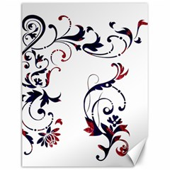 Scroll Border Swirls Abstract Canvas 12  x 16