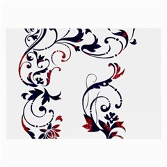 Scroll Border Swirls Abstract Large Glasses Cloth (2-Side)