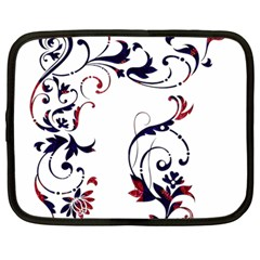 Scroll Border Swirls Abstract Netbook Case (Large)