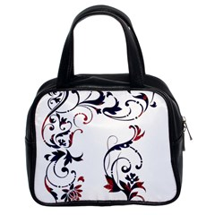Scroll Border Swirls Abstract Classic Handbags (2 Sides)