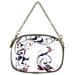 Scroll Border Swirls Abstract Chain Purses (one Side)