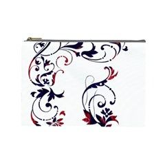 Scroll Border Swirls Abstract Cosmetic Bag (large)
