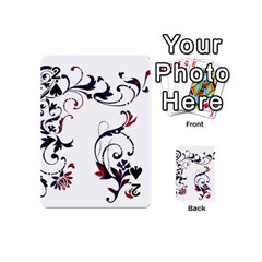 Scroll Border Swirls Abstract Playing Cards 54 (mini)