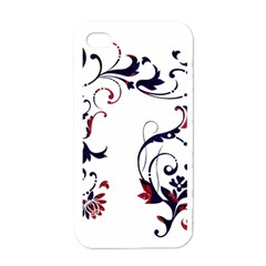 Scroll Border Swirls Abstract Apple Iphone 4 Case (white)