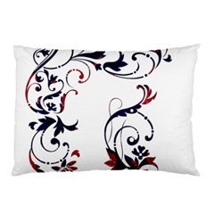 Scroll Border Swirls Abstract Pillow Case (Two Sides)