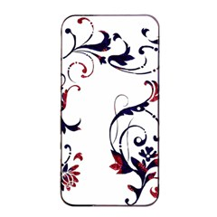 Scroll Border Swirls Abstract Apple iPhone 4/4s Seamless Case (Black)