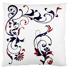 Scroll Border Swirls Abstract Large Cushion Case (two Sides)