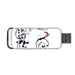 Scroll Border Swirls Abstract Portable USB Flash (Two Sides)