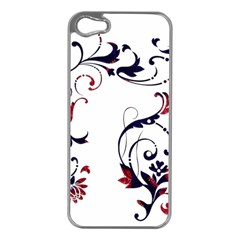 Scroll Border Swirls Abstract Apple Iphone 5 Case (silver)