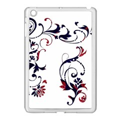 Scroll Border Swirls Abstract Apple iPad Mini Case (White)