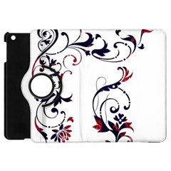 Scroll Border Swirls Abstract Apple iPad Mini Flip 360 Case