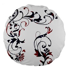 Scroll Border Swirls Abstract Large 18  Premium Round Cushions