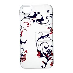 Scroll Border Swirls Abstract Apple Iphone 4/4s Hardshell Case With Stand