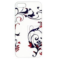 Scroll Border Swirls Abstract Apple Iphone 5 Hardshell Case With Stand