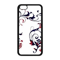 Scroll Border Swirls Abstract Apple Iphone 5c Seamless Case (black)