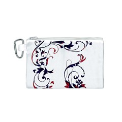 Scroll Border Swirls Abstract Canvas Cosmetic Bag (s)