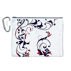 Scroll Border Swirls Abstract Canvas Cosmetic Bag (L)