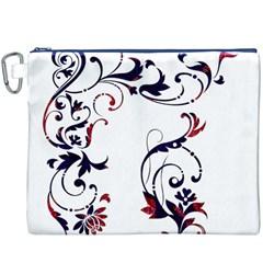 Scroll Border Swirls Abstract Canvas Cosmetic Bag (XXXL)