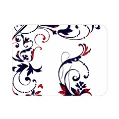 Scroll Border Swirls Abstract Double Sided Flano Blanket (Mini)