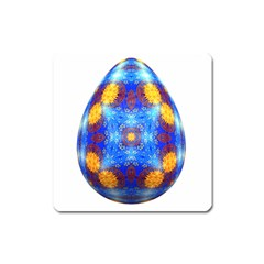 Easter Eggs Egg Blue Yellow Square Magnet