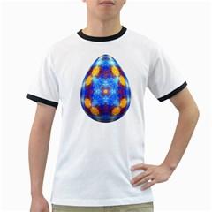 Easter Eggs Egg Blue Yellow Ringer T Shirts