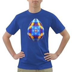 Easter Eggs Egg Blue Yellow Dark T-Shirt