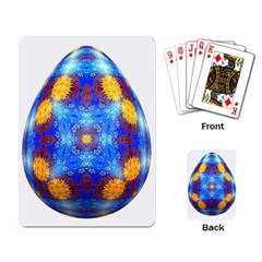 Easter Eggs Egg Blue Yellow Playing Card