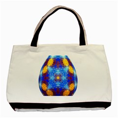 Easter Eggs Egg Blue Yellow Basic Tote Bag