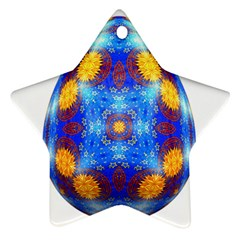 Easter Eggs Egg Blue Yellow Star Ornament (Two Sides)