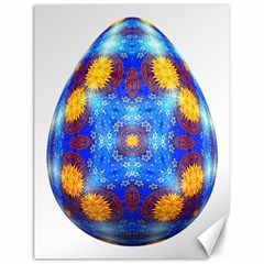 Easter Eggs Egg Blue Yellow Canvas 12  X 16