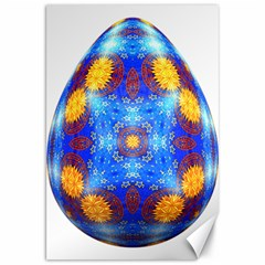 Easter Eggs Egg Blue Yellow Canvas 20  x 30