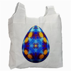 Easter Eggs Egg Blue Yellow Recycle Bag (two Side)