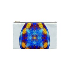 Easter Eggs Egg Blue Yellow Cosmetic Bag (Small)
