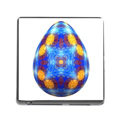 Easter Eggs Egg Blue Yellow Memory Card Reader (square)