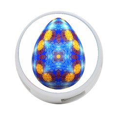 Easter Eggs Egg Blue Yellow 4-Port USB Hub (Two Sides)
