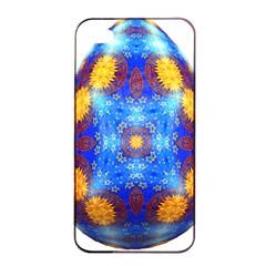 Easter Eggs Egg Blue Yellow Apple iPhone 4/4s Seamless Case (Black)