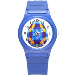 Easter Eggs Egg Blue Yellow Round Plastic Sport Watch (s)