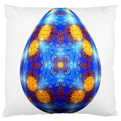 Easter Eggs Egg Blue Yellow Large Cushion Case (two Sides)