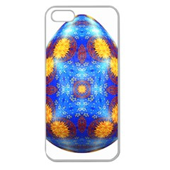 Easter Eggs Egg Blue Yellow Apple Seamless Iphone 5 Case (clear)