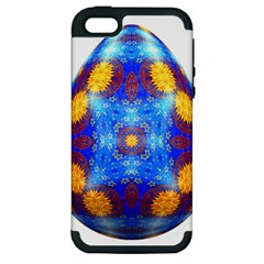 Easter Eggs Egg Blue Yellow Apple iPhone 5 Hardshell Case (PC+Silicone)