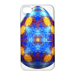 Easter Eggs Egg Blue Yellow Apple Iphone 4/4s Hardshell Case With Stand