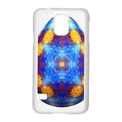 Easter Eggs Egg Blue Yellow Samsung Galaxy S5 Case (White)