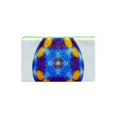 Easter Eggs Egg Blue Yellow Cosmetic Bag (xs)