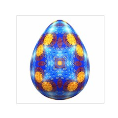 Easter Eggs Egg Blue Yellow Small Satin Scarf (Square)